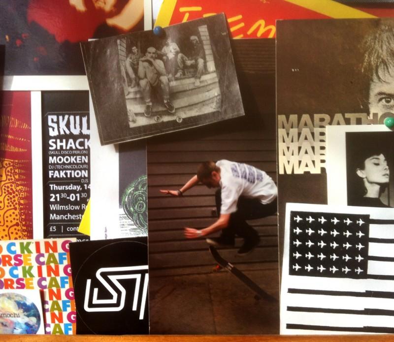 Jon K's kitchen pinboard - skate pic circa '92